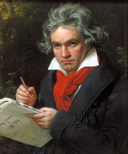 Beethoven a Missa Solemnis komponálása közben 1820 (Joseph Karl Stieler portréja)