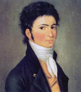A fiatal Ludwig van Beethoven (Bonn, 1770. december 16. (vélhetően) – Bécs, 1827. március 26.) Carl Traugott Riedel (1769–1832) festménye