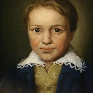 LUDWIG VAN BEETHOVEN 13 évesen (1783) Ismeretlen bonni festő műve