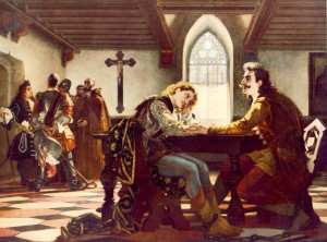 ZRINYI ÉS FRANGEPÁN A BÉCSÚJHELYI BÖRTÖNBEN 1864 olaj, vászon (Magyar Nemzeti Galéria, Budapest)