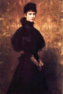 Benczúr Gyula: Erzsébet királyné arcképe (1899)