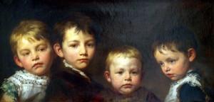 Benczúr Gyula: Gyermekeim (1881)