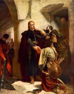 Benczúr Gyula: Hunyadi László búcsúja (1866)