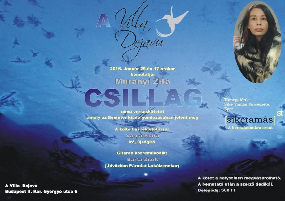 Murányi Zita CSILLAG című verseskötetének bemutatója