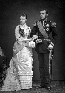 Rudolf és Stefánia esküvői képe 1881. május 10.