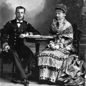 Rudolf és felesége, Stefánia (1882)