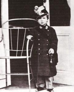 Rudolf trónörökös a nevét viselő 19. gyalogezred ezredtulajdonosi egyenruhájában (1862)