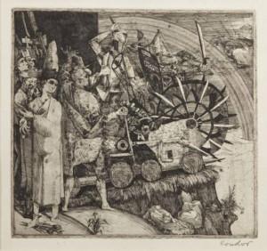 Készülődés a forradalomra (1956) Jelenetek Dózsa György idejéből IX., rézkarc