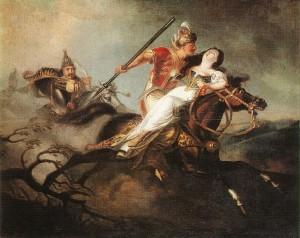 Kisfaludy Károly: László király a cserhalmi ütközetben (1826-30) Olaj, vászon, 129 x 167 cm Magyar Nemzeti Galéria