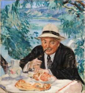 Keresztapa reggelije (1932) olaj, vászon, 90 x 81 cm (MNG)
