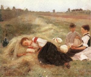 Szénagyűjtők (1890) olaj, vászon, 116 x 136 cm (MNG)