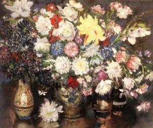 Virágcsendélet - Reggeliző-asztal - (1913) olaj, vászon, 84 x 73,2 cm (MNG)