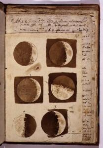 Galileo Galilei rajza a Holdról (1610)