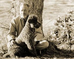 John Steinbeck Charley nevű kutyájával (1961)
