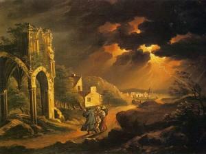 Kisfaludy Károly: Éjjeli szélvész (1820 körül, Magyar Nemzeti Galéria)