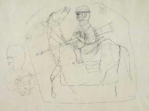 Amor omnia vincit (ceruza, papír, 26,5x36 cm)