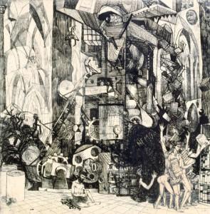 Pokolbeli nyomda - Illusztráció William Blake verséhez (1962)