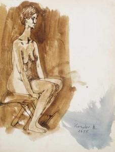 Ülő női akt (1955)
