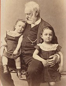 Victor Hugo és unokái György és Jeanne (1872 - Párizs)