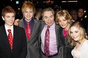 Sir Andrew Lloyd Webber és családja (2010)
