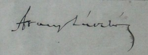 Arany László aláírása