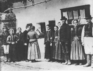 Bartók népzenegyűjtés közben (1908)