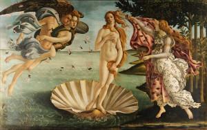 Vénusz születése 1484-1486 (Uffizi, Firenze)