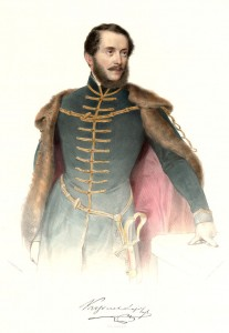 Kossuth Lajos (színezett litográfia)