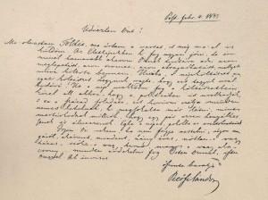 Petőfi Sándor első levele Arany Jánoshoz