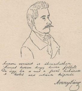 Petőfi Sándor rajza Arany Jánosról - Arany János kommentárjával 1847