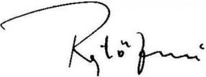 Rejtő Jenő aláírása