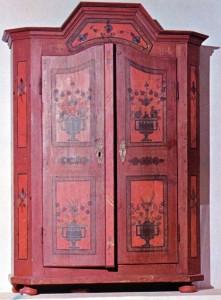 Szekrény, Csánig, (Vas megye.) 1827. Savaria Múzeum, Szombathely