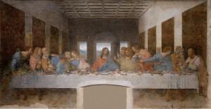 Az utolsó vacsora (1498) Santa Maria delle Grazie kolostor, Milánó, Olaszország