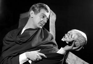 Gábor Miklós Hamlet szerepében (Madách Színház)