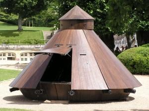Leonardo da Vinci tervei alapján készített tank