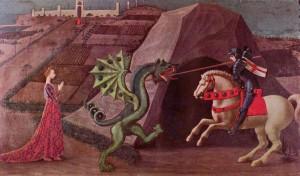 Paolo Uccello: Szent György és a sárkány (1460 körül)