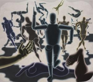 Az ember (1943) - technika: tempera, karton -
