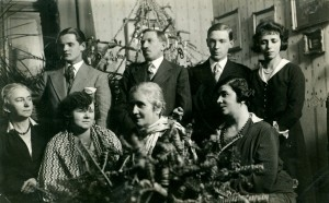 Dsida Jenő családja körében (Kolozsvár 1931. január 1.)