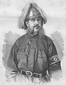 Széchenyi Ödön az állami tűzoltóság megszervezője, irányítója Magyarországon és Törökországban - Rusz Károly metszete -