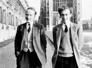 Francis Crick és James Watson (Cambridge, 1953)