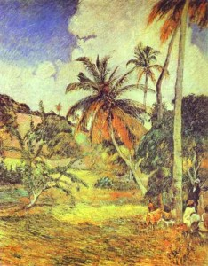 Pálmafák Martinique szigetén (1887)