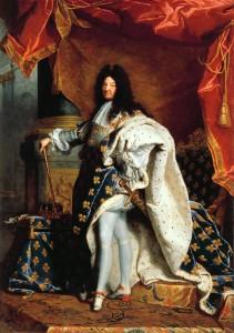 XIV. Lajos (Saint-Germain-en-Laye, 1638. szeptember 5. – Versailles, 1715. szeptember 1.) Hyacinthe Rigaud festményén (1701)