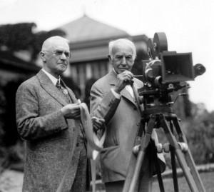 George Eastman (balra) és Thomas Edison (1928)