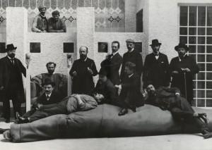 A bécsi Secession művészegyesület tagjai (1902)