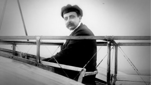 Louis Blériot repülőgépében