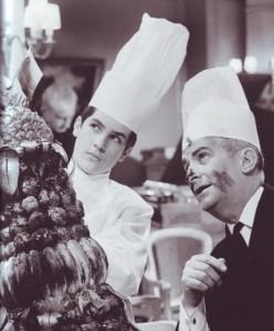 Louis de Funès A főnök inkognitóban című film forgatásán (1966)