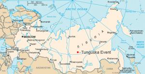 A tunguzkai esemény helyszíne Szibériában