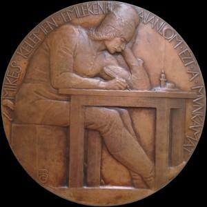 Mikes Kelemen emlékérme Beck Ö. Fülöp (Pápa, 1873. június 23. – Budapest, 1945. január 31.) szobrász, éremművész alkotása
