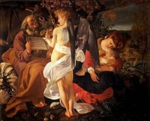 Caravaggio: Pihenés az Egyiptomba menekülés közben (1597)