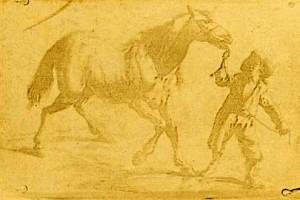 Niépce legrégebbi fennmaradt heliografikus nyomata, egy 17. századi metszet másolata (1825)